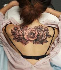 A First Tattoo This Lovely Back Piece Of Roses By Artist Nhia Yang
