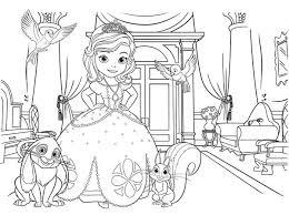 Download Sofia The First Picture Coloring Page Print