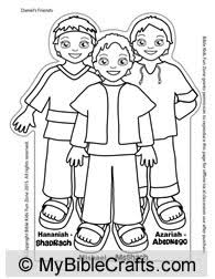 The Three Hebrew Children Shadrach Meshach And Abednego Come All Together On One Craft