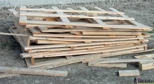 Scrap Pile Of Pallets