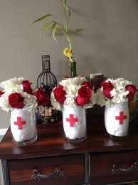 Graduation Table Decorations To Make by Nurse Theme Centerpieces By Connie My Creations Pinterest