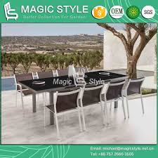 [Hot Item] Outdoor Textile Dining Set Garden Sling Chair Extension Table  With Glass Textile Dining Armchair Stackable Chair (Feeling) Furniture Patio Chairs At Lowescom Outdoor Wicker Stacking Set Of 2 Best Selling Chair Lots Lloyd Big Cushions Slipcove Fniture Sling Swivel Decoration Comfortable Small Space Sets For Tiny Spaces Unique Cana Qdf Ding Agio Majorca Rocker With Inserted Woven Alinium Orlando Charleston Myrtle White Table And Seven Piece Monterey 3 0133354 Spring China New Design Textile