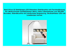 best buy le stehle led dimmbar stehleuchte mit