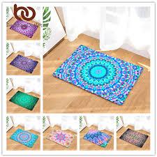 beddingoutlet geometrische drucken teppich anti slip boden matte mandala boho print badezimmer küche tür matte 40x60 50x80 cm bereich teppiche