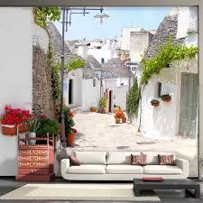 beibehang nach 3d foto tapete griechischen aegean stil architektur blau weiß landschaft studie schlafzimmer wohnzimmer tv wand
