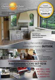 Custom Outdoor Kitchens Naples Fl by Custom Outdoor Kitchen Concepts