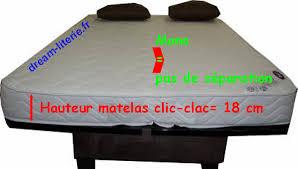 canap clic clac matelas bultex canap clic clac choix et prix avec le guide shopping kibodio beau