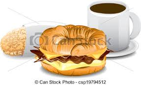 Complete Breakfast Illustration Of A Fast Food