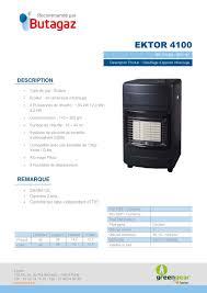 chauffage d appoint au gaz butane destockage butagaz ektor 4100 4200 watts chauffage d appoint