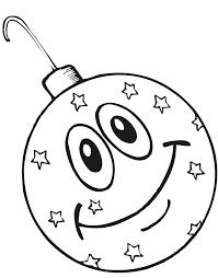 Christmas Ornament Coloring Page Printable