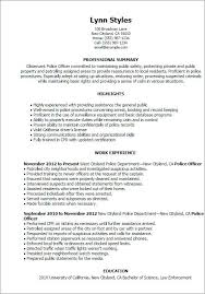 Resume For Police Officer With No Experience Awesome 62 Beautiful Cover Letter