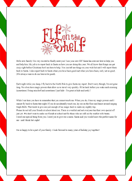 28 of Letter From Elf The Shelf Letters Template
