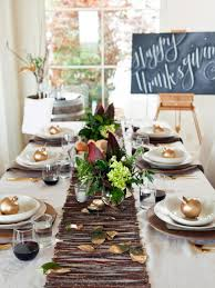 Modern Centerpieces For Dining Room Table by 20 Thanksgiving Table Setting Ideas And Recipes Hgtv