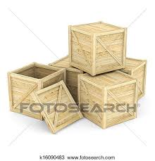 Drawing Of Wooden Crate K16090483