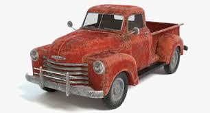 100 Truck Model 3D Old Rusty Pickup Truck Model TurboSquid 1153545