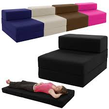 Foam Flip Chair Bed by Single Chair Bed Z Guest Fold Out Futon Sofa Chairbed Lounger