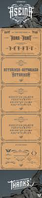 Aseina Typeface Bonus introsale Blackletter Fonts $15 00