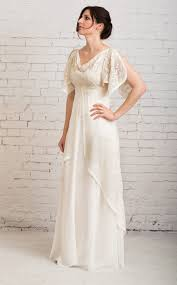 Casual Wedding Dress Simple Rustic Vintage With Sleeves Athena Gown
