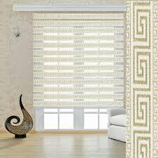 doppelrollos duorollo versace gold beige wohnzimmer gardinen