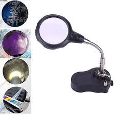 Desktop Led Magnifying Lamp Nz by Tabletop Gooseneck 3 5x 12x Helping Hand Alligator Clip Led Sales