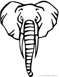 Elephant Color Page Animal Coloring Pages Plate Sheetprintable
