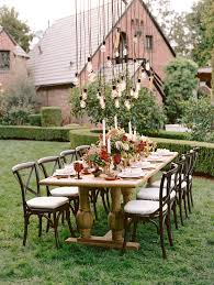 Rustic Backyard Wedding Reception Decoration Ideas With Hanging Lights
