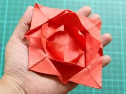 Origami Flower Card Beautiful How To Fold A Simple