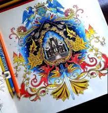 Coat Of Arms Castle Enchanted Forest Brasao Castelo Floresta Encantada Johanna Basford Coloring BookEnchanted