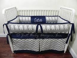 Custom Baby Bedding Set Drew Boy Baby Bedding Gray Crib