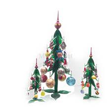 Christmas Tree With Hanging Decorationscm 17 In Murano Glass