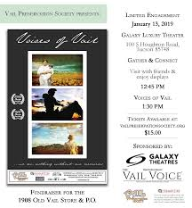 100 Vail Theater Preservation Society Will Host A Special Screening Of