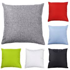 2 Pack Polyester Cushion Cover Plain Window Seat Bed Car Sofa Decor