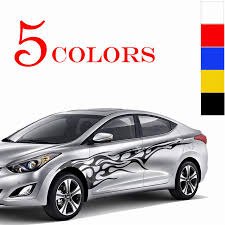 1 Set Car Truck Flame Totem Graphics Side Decal Vinyl Body Sticker ...