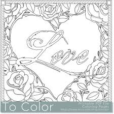 Items Similar To Printable Rose Frame Love Coloring Page For Adults PDF JPG Instant Download Book Sheet Grown Ups Digital Stamp
