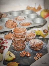 ein genuss für den herbst apfel zimt muffins mit schokolade glutenfrei