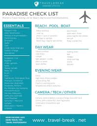 Printable Beach Vacation CHECKLIST Womens Packing List For Coastal Marina And Pool Destinations
