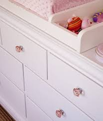 Pink Vintage Dresser Knobs by Changing Table Alternatives Little Crown Interiors