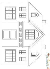 maison à petit fronton à imprimer coloriage maison tête à modeler