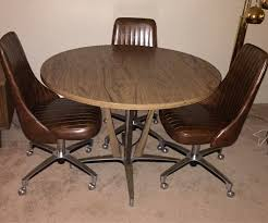 Chromcraft Dining Room Chairs by Chromcraft Dining Table And Chairs Mid Century Modern Round
