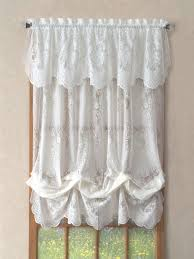Anna Lace Curtains With Attached Valance by Curtains Lace Patterned Floral Striped Solid