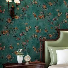 großhandel grüne pastorale florale vliestapete 3d geprägte wohnzimmer sofa schlafzimmer tv hintergrund wand dekor wandbild tapete blume