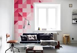 geometric pink pixers moderne wohnzimmer pink homify