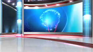 Free Virtual News Studio Background Globe Close HD
