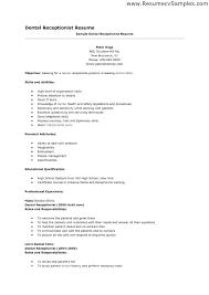 front desk receptionist sle resume medical receptionist resume
