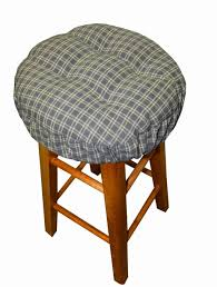 Dining Room Chair Cushions Walmart by Kitchen Design Plaid Gray Round Bar Stool Cushion Best Bar