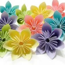I Was Actually Looking For A Cool Colour Scheme Of Florals These Origami Flowers Are