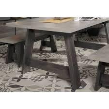tisch esszimmertisch mit 2 sitzbänken in eiche grau maxwell 6