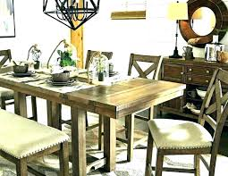 Dining Room Table With Bench Black Folding And Chairs