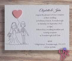 50 Wedding Invitations Evening Invites Personalised Handmade With Envelopes