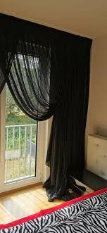 schwarze romantische gardine schlafzimmer aus tüll
